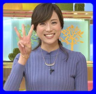 笑顔の笹川友里アナ